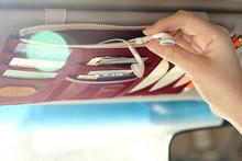 CD Case Car Sun Visor Pocket