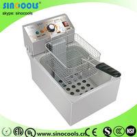 Commercial Electric Counter Top 1 Tank 1 Basket Fryer Deep Fryer