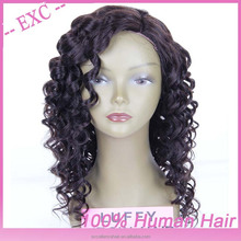 Hot popular! grade 5a cheap raw unprocessed Russian human afro curl wig