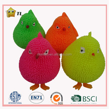14cm TPR Australia hot LED lighting stretchy chicken Puffer toy