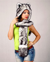 Hot selling top quality cheap fashion faux plush animal sexy women winter hat for adult and kids