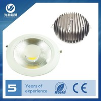High Power Clear Glass Anti-glare IP44 220V Dimmable COB LED Downlight 40w