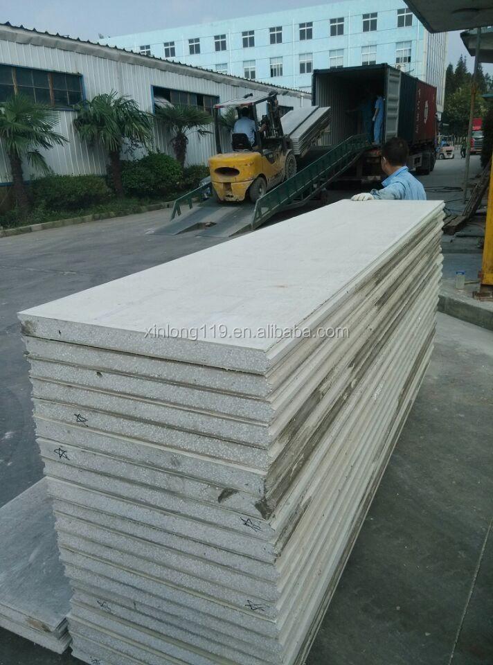 D coratif isol fiber ciment eps panneau sandwich pour mur for Panneau ciment exterieur