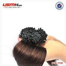 Pre Bonded 100% Real Natural strick tip i-tip wavy hair extension