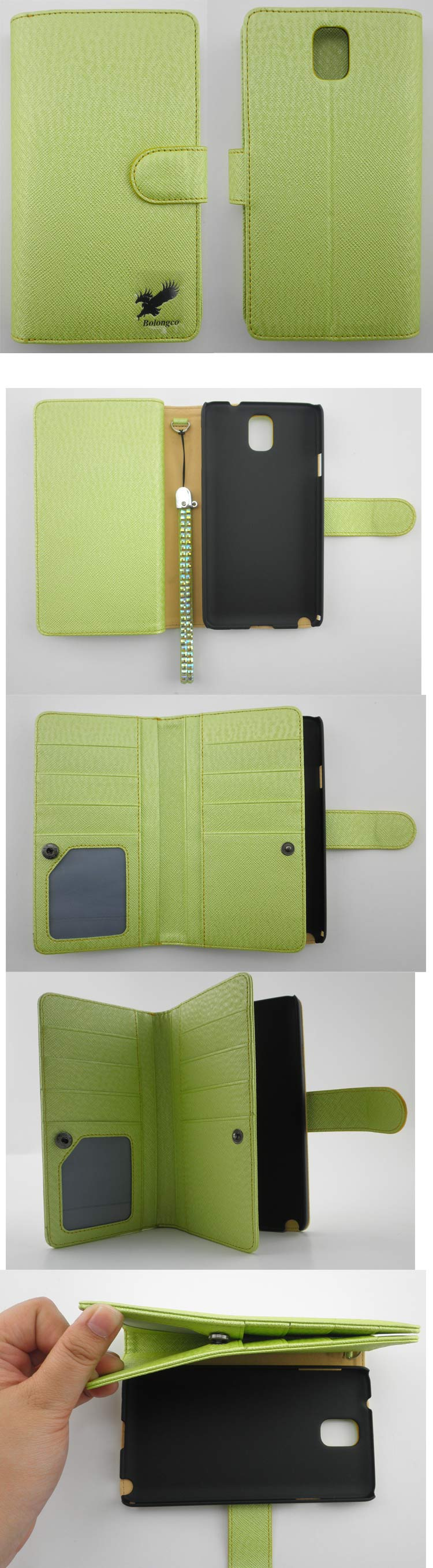 wallet book style with card slot flip cover mobile cell phone leather case for sony m2