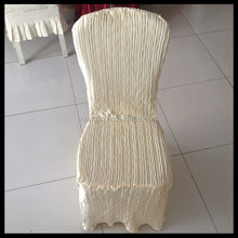 100% polyester elegant chair covers for weddings/hotel fancy chair cover for sale