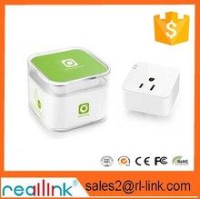 Wireless Wifi Wall Socket,remote Controlled Via Internet / LAN, Android + iOS Supported, EU Power Supply