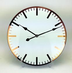 2015 new design glass Luxury wall clocks