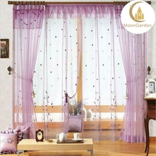 american elegant home decoration embroidery window curtain