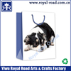 Cute deisgn printed shopping gift bag dog & gloves gift bag good sale