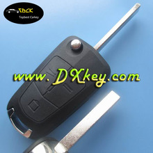 High quality 3 button Car key cover for Opel key Ope key cover Opel Vectra key HU100 blade