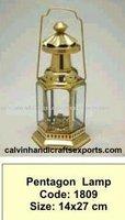 pentagon lamp,ship lamp.antique decor lamp, oil lamp