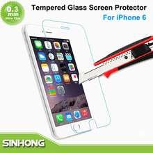 Tickness 0.3mm Ultra Thin Clear Anti-fingerprint Tempered Glass Screen Protector For iPhone 6