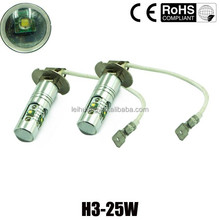 manufacturer h3 25w high lumen 12v led auto head light h3 bulb led