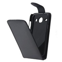 For Samsung Galaxy Core i8260 i8262 Black Flip PU Leather Case Cover