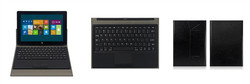 Wired Keyboard for Windows Tab Touchpad Case with 5 Pogo Pin Keyboard