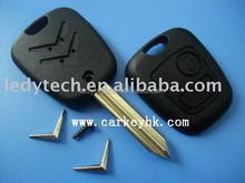 High quality Citroen key shell 2 buttons remote key shell car key