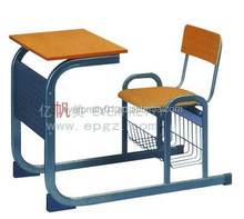 High quality Detachable single desk and chair,Middle/High school furniture for classroom,Fixed desk and chair for classroom