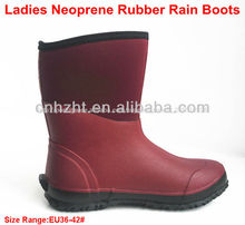 Senhoras neoprene botas de borracha chuva; mulheres botas de pesca