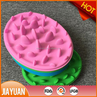 anti choke slow feed silicone fancy dog bowl & dog food bowl