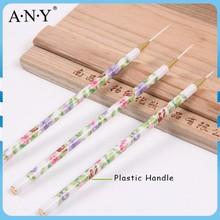 ANY Nail Art Care Liner Building Nylon Hair 3PCS Nail Art Striper Brush Set