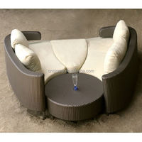 2015 The Most Creative Wicker Sun outdoor round lounge furniture
