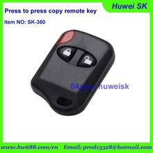 wholesale universal remote control electronic key door lock fixed code 433Mhz/315Mhz face to face copy