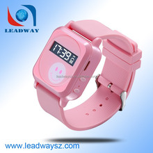 Smallest kids wrist watch gps tracker / tracking device for kids LDW-TKW19G