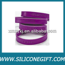 Silicone Bracelets Breast Cancer Awareness Wrist Bands/bulk wholesale case lot for fundraising