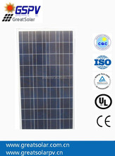 High Efficiency CE/TUV 130W Polycrystalline Silicon Photovoltaic Solar Panels for home solar systems