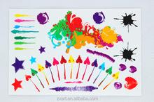 Fun color celebrate body tattoo sticker henna sticekr