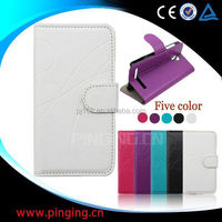 Hot selling mobile phone case design flip leather cover for Iphone 5c