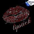 Lip Stick Hot Lips Sexy mujer con cuello en v camiseta cristal motivo de transferencia de calor ropa