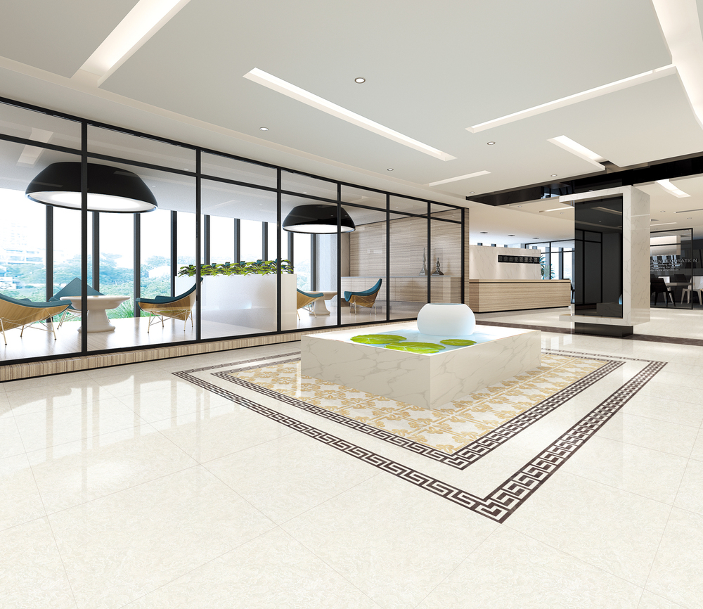 Interior Livingroom 60x60 Modern High Gloss Floor Tile Usa Italy