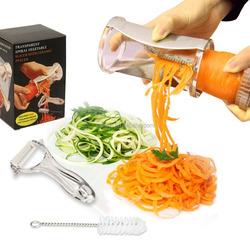 Wholesale Fruit and Vegetable Cutter Spiral Slicer Stainless Steel Spirelli Spiral Slicer Spiral Vegetable Slicer