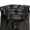 """hot sale alibaba express wholesale 7A quality brazilian human virgin remy straight full head clip in hair for 22"""""""