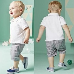 2015 SUMMER EUROPEAN STYLE KIDS BOYS 100%COTTON CASUAL CLOTHES SETS,POLO T-SHIRT+SHORT PANT