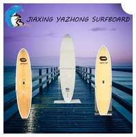 Carbon bamboo venneer and painting sup paddle boat surfboard