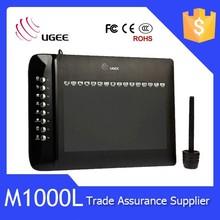 High sensitive pressure 10x6 inch 2048 levels Ugee M1000L graphics tablet digitizer