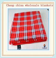 Scottish tartan plaid pa fabric polar fleece blanket