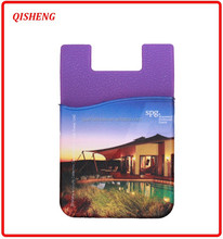 Funny digital printing silicon card holder with sticker