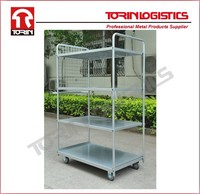 Roll container for warehouse storage