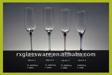2015 hot selling cheap promotional Crystal Champagne Glass custom champagne glasses