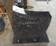 Natural Blue Pearl Granite Headstone with Good Price