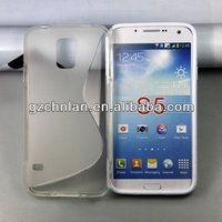 Hot selling s line gel cover For Samsung Galaxy S5 gel tpu cover