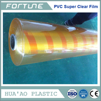 Yellow Super Clear Soft PVC Film Transparent Roll