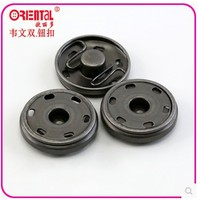 round shape metal sewing snap buttons in gun