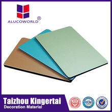Alucoworld colorful 2013 new design pvdf aluminum composite cladding sheet acp walls panels for indoor/outdoor usage