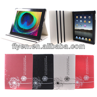 NEW CUTE Folio Book magic Dandelion grain PU leather Case Cover Stand for Apple iPad 2 3 4
