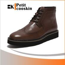 Business casual long shoes for men high cut dress shoes men